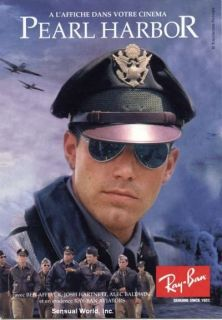 French Sexy Ben Affleck Postcard Pearl Harbor Ray Ban