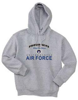 Personalized Air Force Wife Mom Grandma Hooded Hoodie Sweatshirt XL