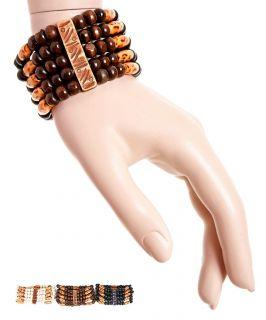 Beautiful African Animal Print Beaded Stretch Bracelet Bangle