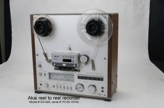 Akai Model GX 625 Reel to Reel Player Tape Recorder