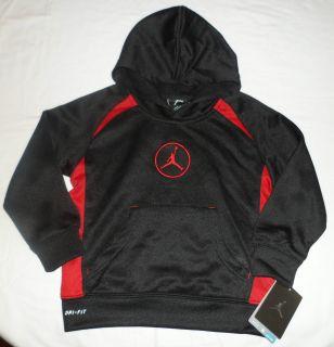 NWT New NIKE AIR JORDAN LOGO Boys Jacket Hoodie Sweater SHIRT SZ 7 Dri