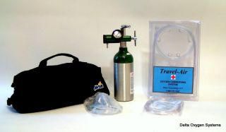 Portable Personal Oxygen System for Travel Home Medical Lasts 6 Hours