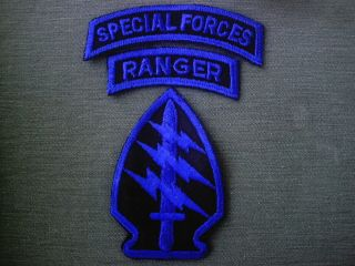 Special Forces Ranger Airborne Patch Tabs US Army Estate SOG Insignia