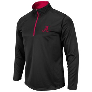 Alabama Crimson Tide Mens Mako 1/4 Zip Long Sleeve T Shirt   Black