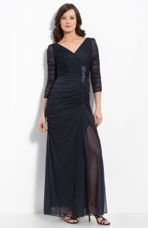 Adrianna Papell Beaded Mesh Gown Mob 14 $168 00