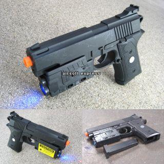 New Airsoft Spring Handgun Pistol Air Soft Toy Gun w Laser Light BBS