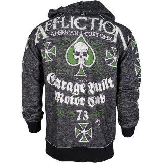 Affliction American Customs Evil Customs Reversible Black Hoodie XXL