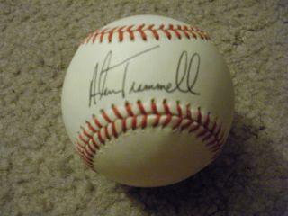 Originial Autographed Alan Trammell Baseball Superb Condition