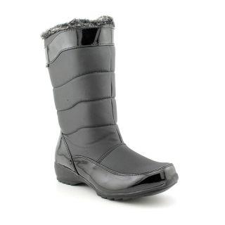 Sporto Agatha Womens Size 7 Black Faux Leather Rain Boots