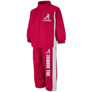 alabama crimson tide toddler red zone jacket pant set coss8184