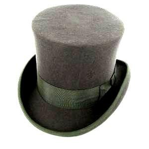 Black Wool Top Hat Victorian Dickens Caroler Slash Tuxedo Steampunk