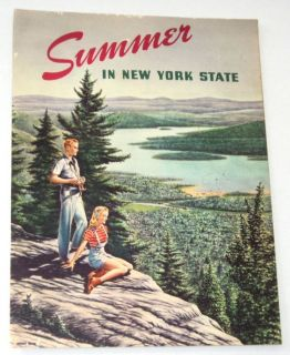 Vintage Summer in New York 1940s Color Travel Guide Thomas E Dewey