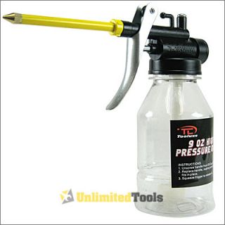 9oz High Pressure Oiler w Pump Lubrication Hand Tools