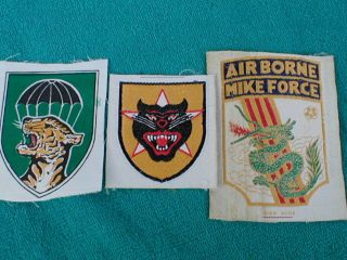 Vietnam ARVN Patches Mike Force Airborne Ranger