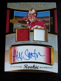 Alex Smith 2005 Exquisite RC Rookie Auto Patch 66 99 VERY RARE Beckett
