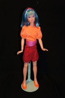 up for auction is a custom re painted aja with custom cartoon fashion