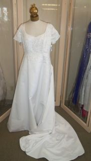 Size 16 white summer wedding bridal gown clearance sale, Alfred Angelo