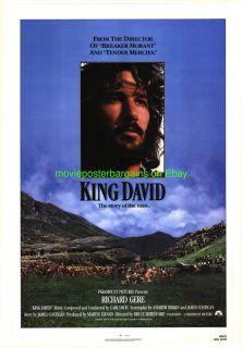 KING DAVID MOVIE POSTER 27x41 ORIGINAL RICHARD GERE 1985 STYLE A
