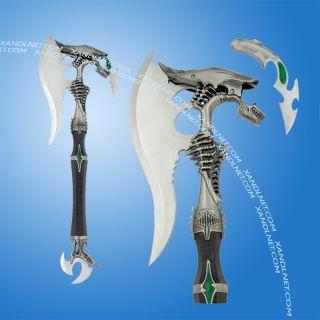 Alien Warrior Fantasy Battle Axe w Dagger Plaque New