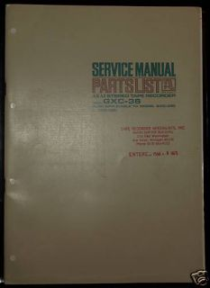 Akai GXC 36 Stereo Tape Recorder Service Manual