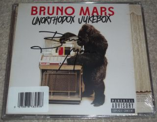 bruno Mars Hand Signed Autograph Unorthodox Jukebox New CD Card