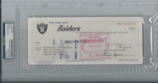 Al Davis PSA DNA Signed Oakland Raiders Check Certified Autograph RARE