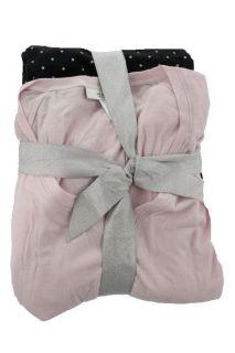 Alfani New Pink Shimmer 2pc V Neck Long Sleeve Polka Dot Pant Pajama