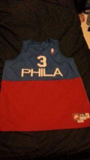 Allen Iverson retro Philadelphia 76ers Jersey Nike 2XL NBA Basketball