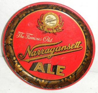 Vintage Narragansett Ale Brewery Beer Tray