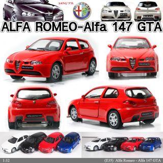Alfa Romeo Alfa 147 GTA Red Diecast Mini Cars Toys Kinsmat 1 32 1 32 5