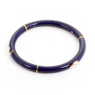 Alessandro Fanfani 18K Yellow Gold Midnight Blue Bangle Bracelet