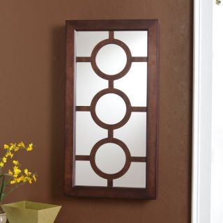 NEW ESPRESSO ALEXIS WALL MOUNT JEWELRY STORAGE ARMOIRE CABINET MIRROR