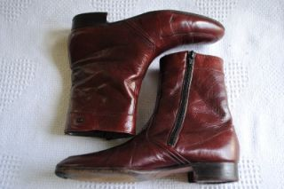 Vtg Amadeus El Corte Ingles Spanish Cordovan Calfskin Leather Ankle