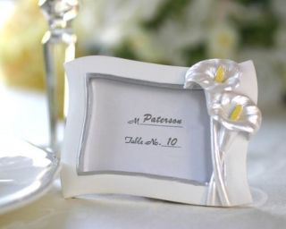 Swaying Calla Lily Pearlescent Place Card Photo Frame Baby Shower