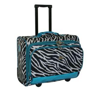 American Flyer Animal Print Underseater Boarding Tote Zebra Teal 86017