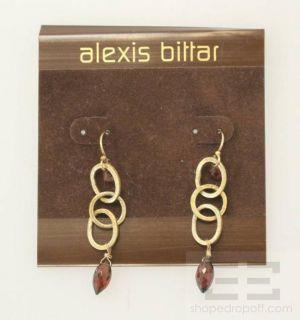 Alexis BIttar Gold & Red Garnet Dangle Earrings