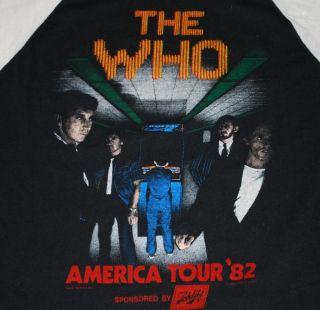 Original Vintage The Who American Tour T Shirt 1982 L