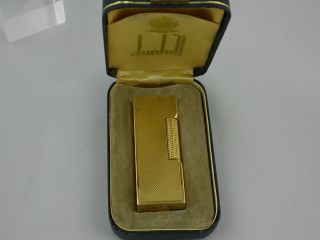 Alfred Dunhill Lighter 18K Solid Gold Dunhill London