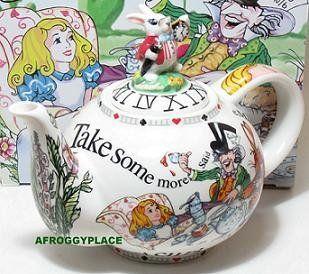 Alice in Wonderland 48oz Betty Style Teapot Paul Cardew New in