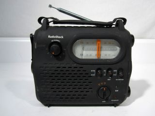 Radio Shack AM FM Weather Band Emergency Crank Radio Model 20 108 BS