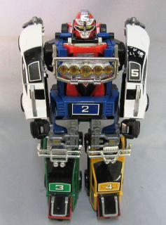 Power Rangers 1997 DELUXE TURBO MEGAZORD all 5 Cominer Robots C8