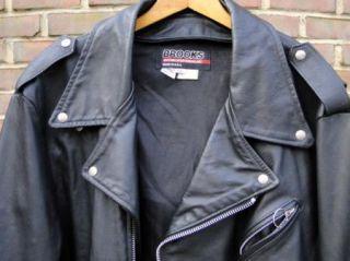 Brooks Classic Leather Brando Motorcycle Jacket 60 USA