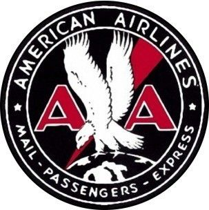 Vintage American Airlines Sticker Decal 3 Diameter