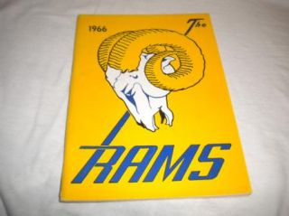 NFL Football Media Press Guide TV Radio Los Angeles Rams 1966 Mint