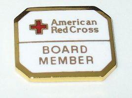 American Red Cross Lapel Pin Board Member