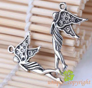 Tibetan silver bali style Fairy Angel charms Pendants 31 15mm TS1075