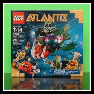 Lego Atlantis 7978 Angler Attack Barracuda Guardian New SEALED Set
