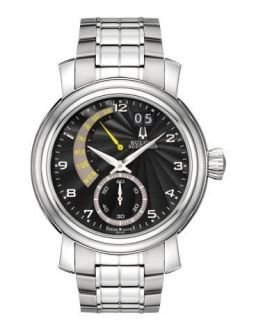 Bulova Accutron Mens Amerigo Calendar Stainless Steel Bracelet Watch