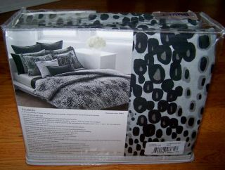 Full Duvet Cover Set Grey Black Cotton New Animal Print Gray