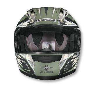 VEGA ALTURA LOCK N LOAD FULL FACE ADULT HELMET, FLAT OLIVE DRAB GREEN